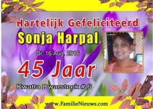 Verjaardag - Sonja Harpal
