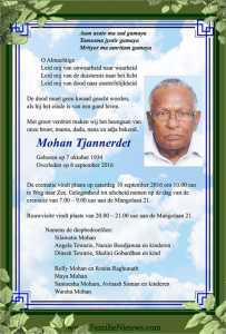 overleden-mohan-tjannerdet
