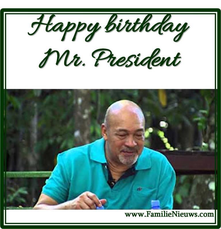 verjaardag Bouterse Paramaribo