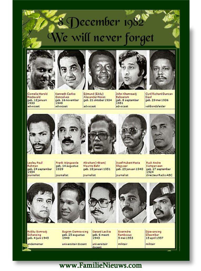 8 december Bouterse moorden FamilieNieuws Suriname herdenking