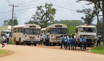 staken Suriname bus boot familienieuws