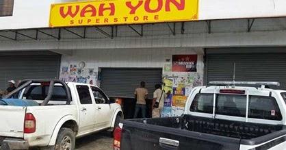 verstoren supermarkt politie FamilieNieuws Suriname