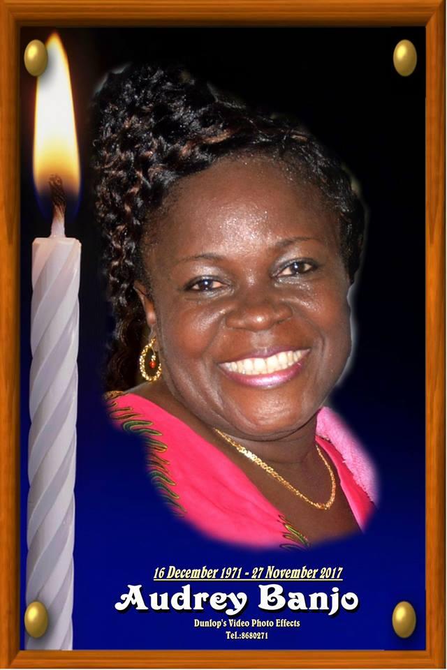 Dankbetuiging - 45-jarige Audrey Banjo overleden Suriname FamilieNieuws