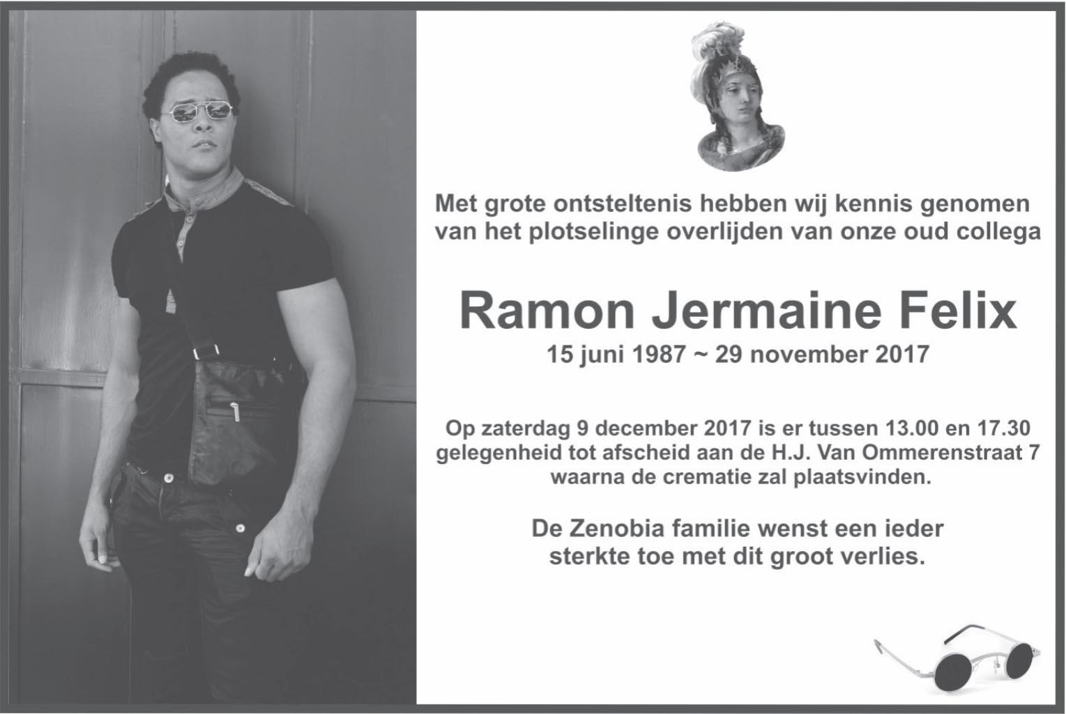 Overleden Suriname Ramon Felix FamilieNieuws