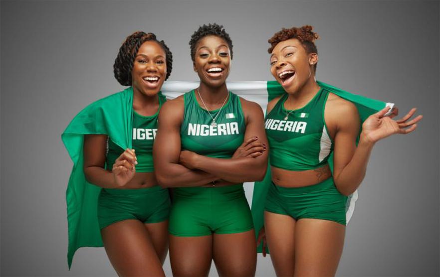 Nigeriaanse bobslee dames groen - FamilieNieuws.com