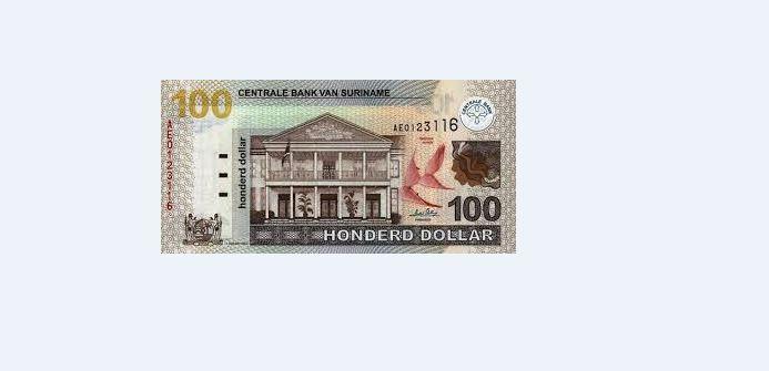 100 srd geld Suriname bank FamilieNieuws
