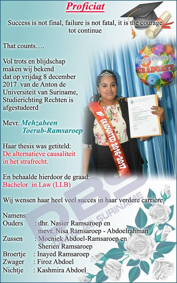 Geslaagd FamilieNieuws Suriname