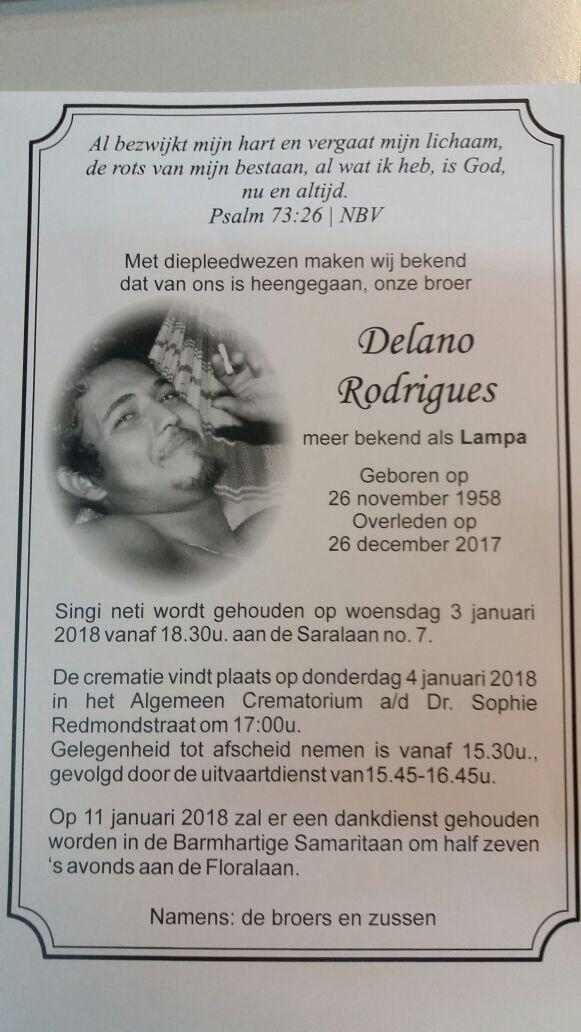 overleden familienieuws Suriname