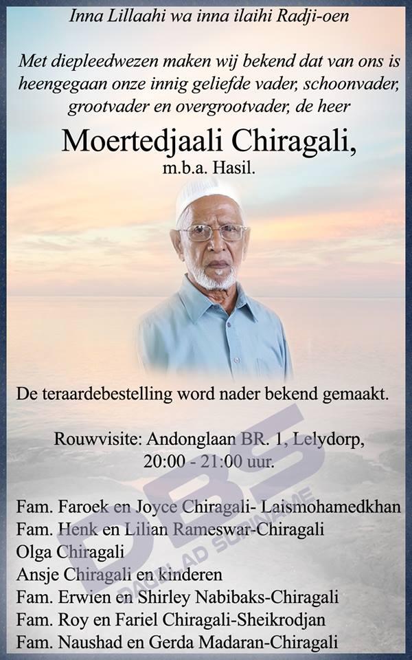 FamilieNieuws Suriname Overleden - Hasil Chiragali