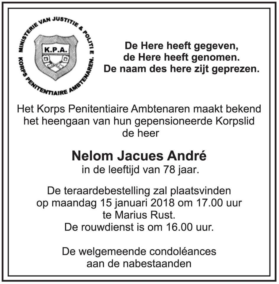 FamilieNieuws Suriname Overleden - Jaques Nelom