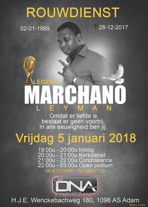 Rouwdienst Marciano Leyman overleden FamilieNieuws Suriname