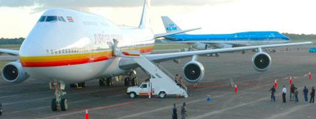 KLM SLM Paramaribo vakantie