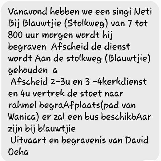 Overleden - David Oeha