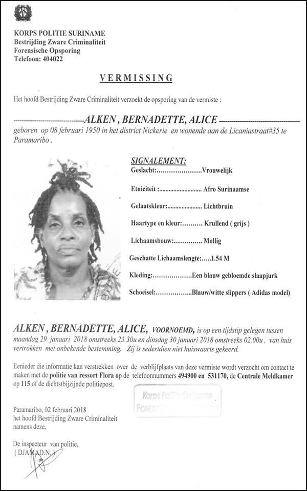 Vermissing - Alice Alken