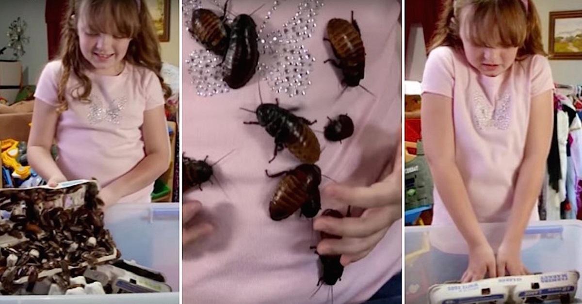 meisje kakkerlakken