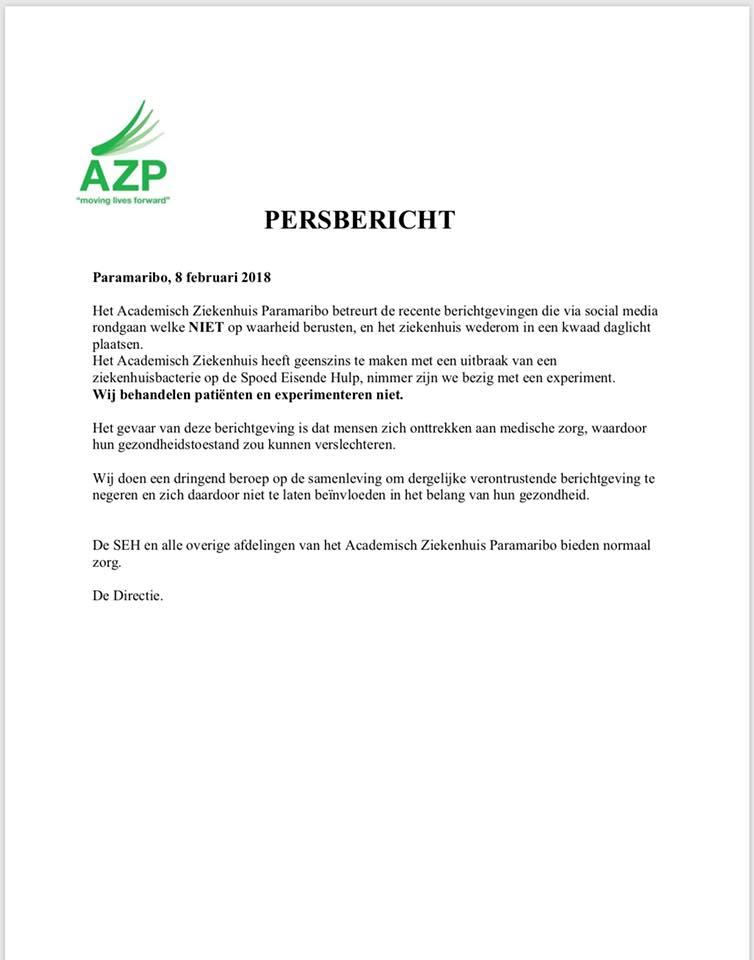 persbericht AZP
