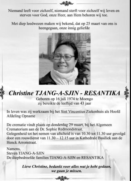 Christine Tjang-A-Sjin - Resantika