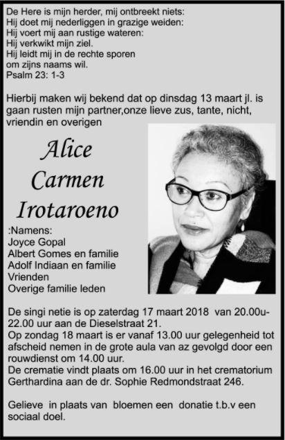 Alice Irotaroeno