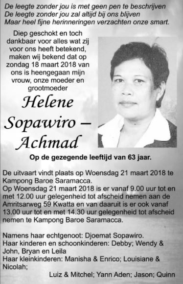 Helene Sopawiro - Achmad
