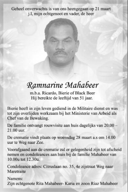 Ramnarine Mahabeer