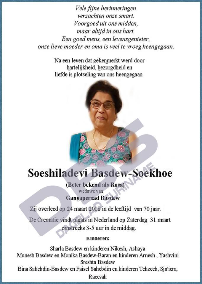 Rosa Basdew - Soekhoe