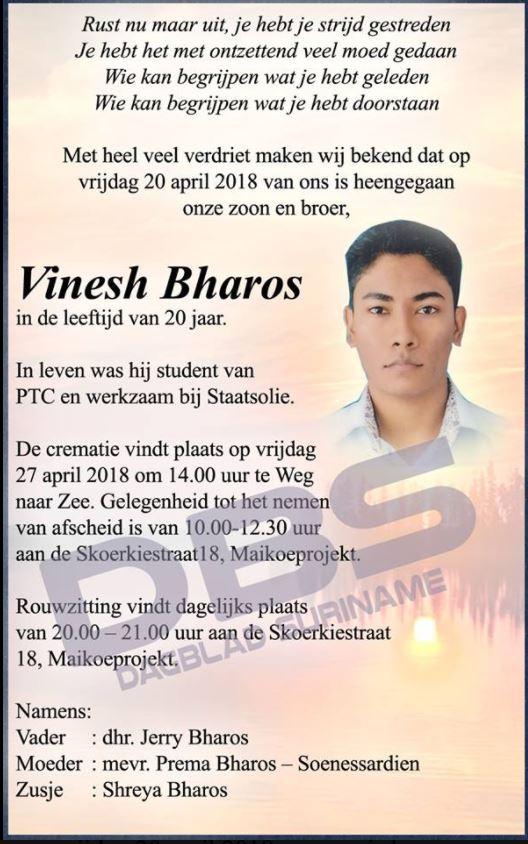 Vinesh Bharos Paramaribo