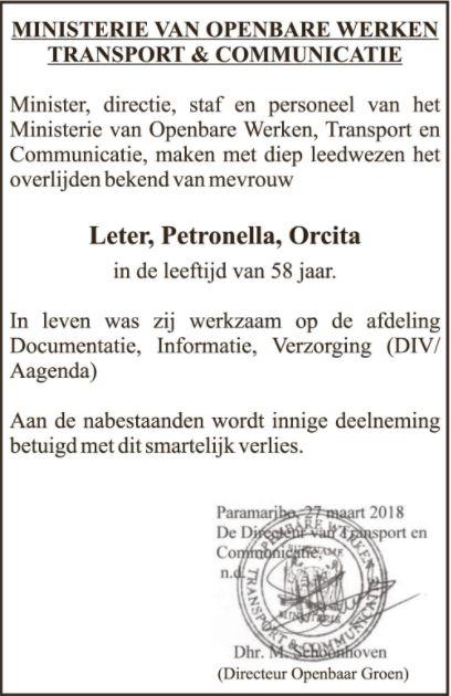 Orcita Leter