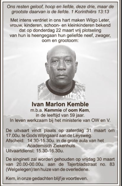 59-jarige Ivan kemble