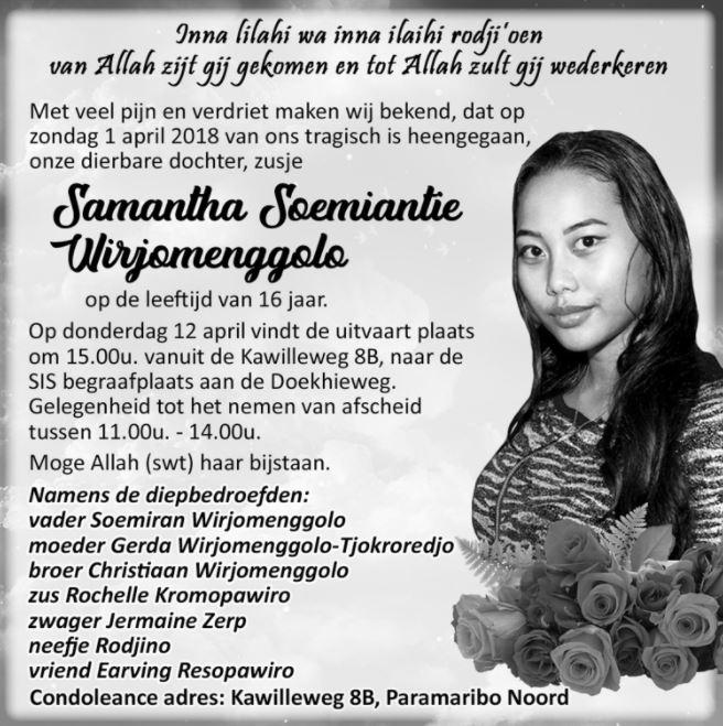 samantha overleden
