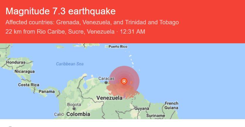 aardbeving Suriname