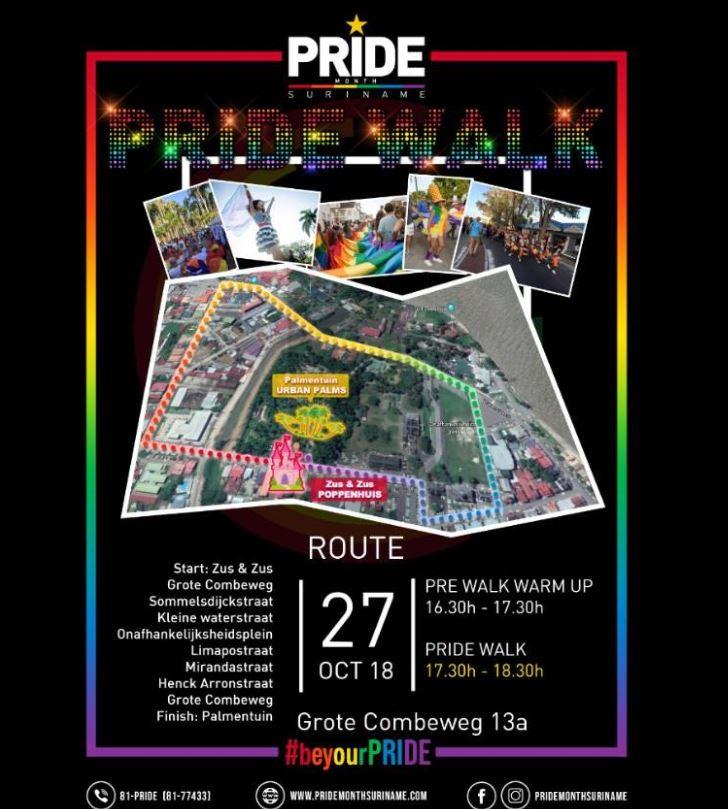 pride walk Paramaribo