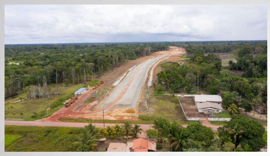 Suriname highway