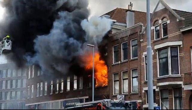 brand Nederland Rotterdam