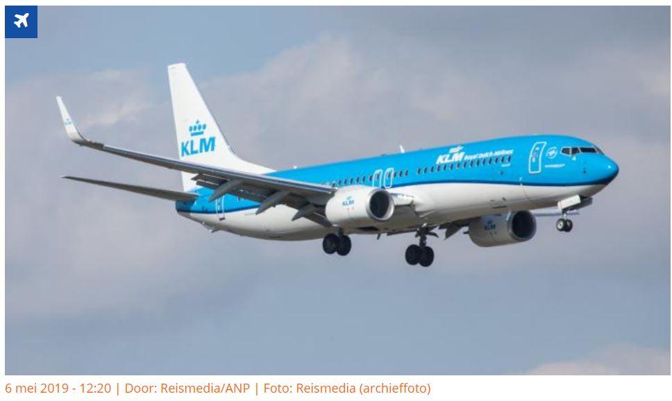 KLM vliegtuig vakantie ParamariboAmsterdam