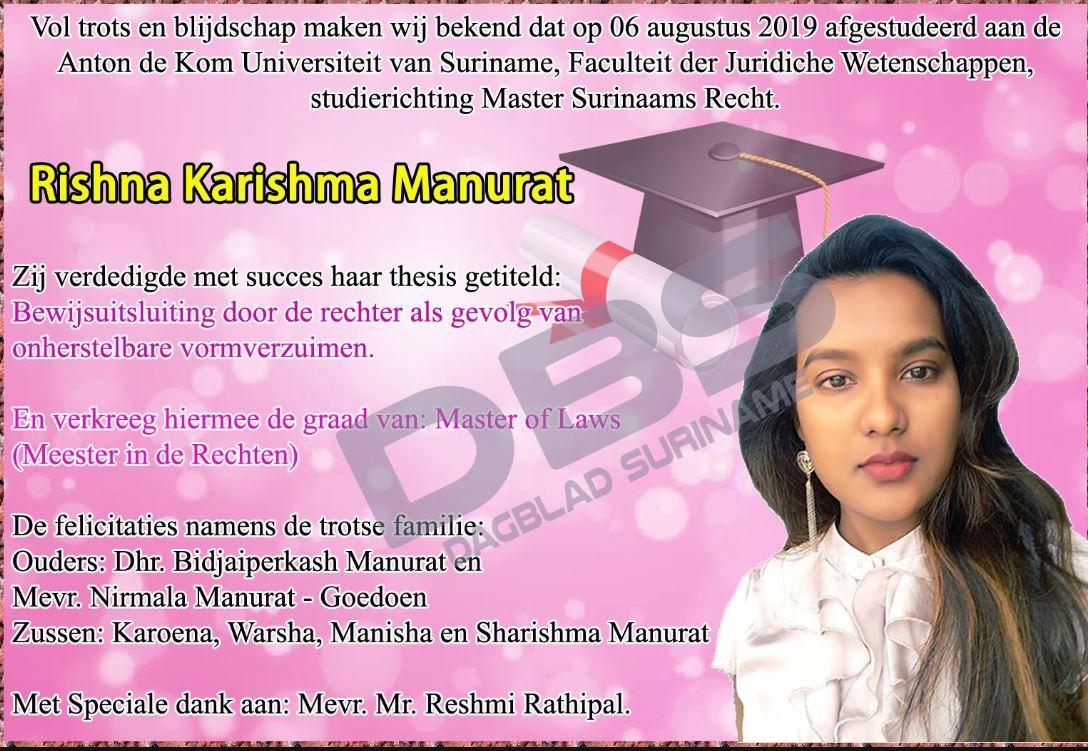 afgestudeerd Paramaribo