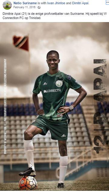voetbal Suriname Nederland
