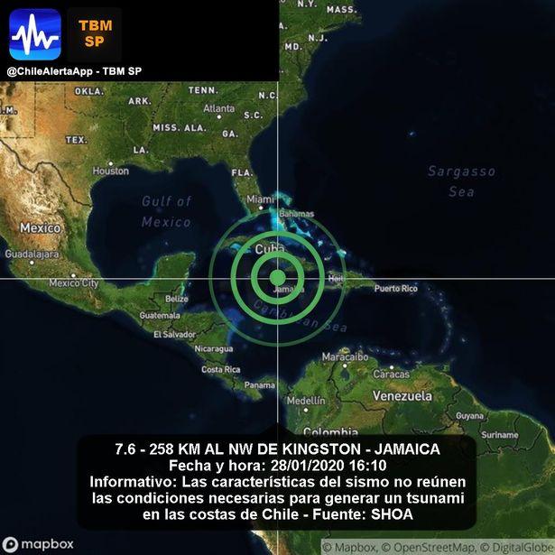 aardbeving Jamaica