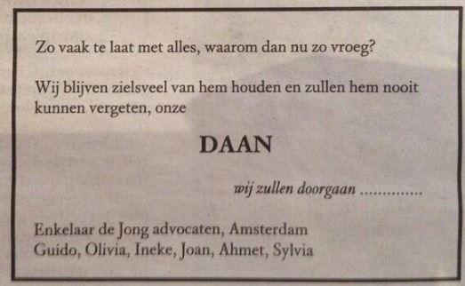 overleden Nederland