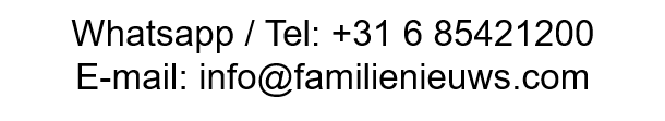 Telefoonnummer, Whatsapp nummer en e-mail van de FamilieNieuws.com redactie voor vragen of het delen van Surinaams nieuws, video's, familieberichten en verhalen uit Paramaribo, Suriname of Nederland