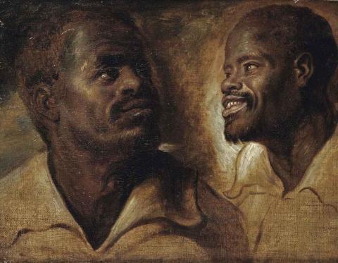 Rembrandt van Rijn, Twee Afrikaanse mannen, 1661 - Rembrandt schilderde zwarte expats in Amsterdam - FamilieNieuws.com