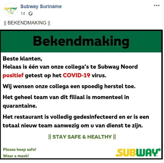 Subway Paramaribo