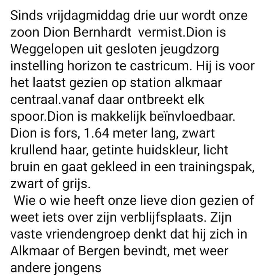 vermissing Nederland