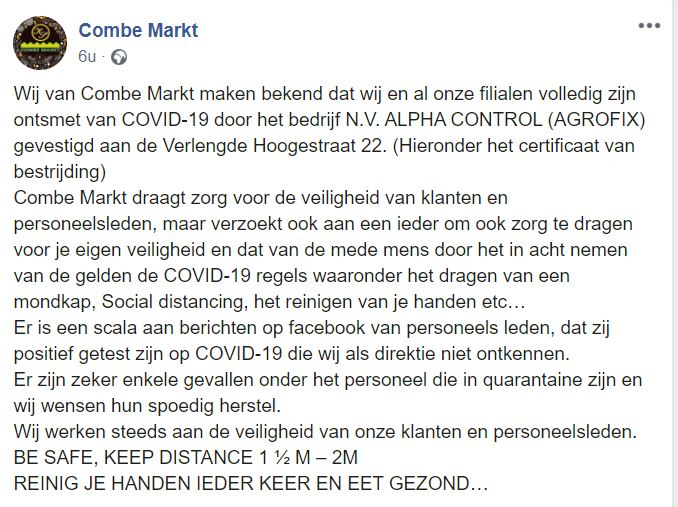 Combe Markt Facebook