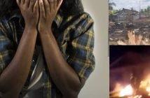 huis afgebrand Suriname