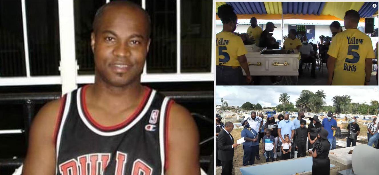 Video's uitvaart basketballer Reggy Mettendaf in Paramaribo