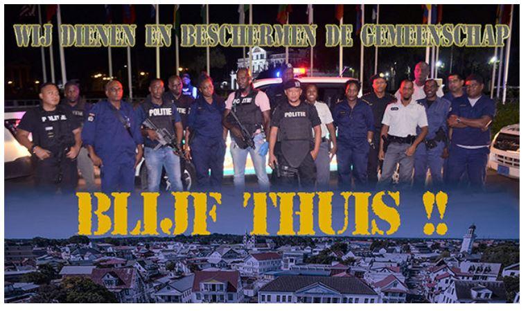 politie Suriname lockdown