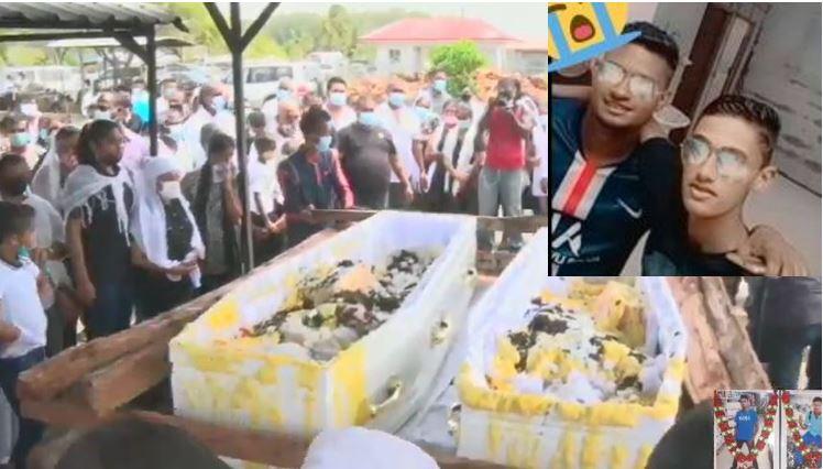 Live video – De uitvaart van 16-jarige Rayen en 18-jarige Sherwien in Suriname