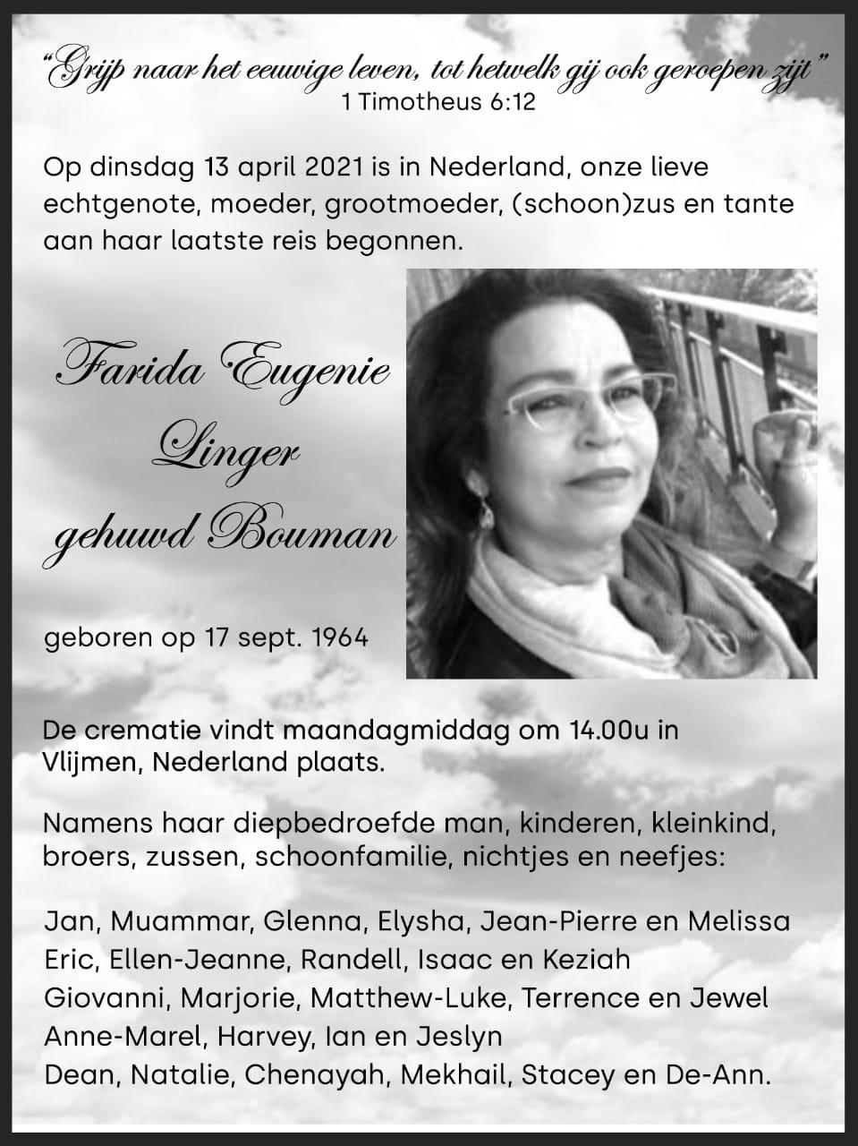 Farida Bouwman Nederland
