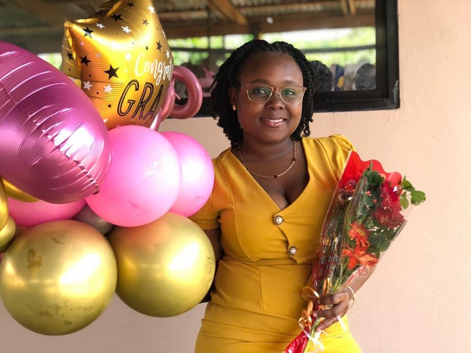 Chivaida Bakboord is afgestudeerd in Suriname