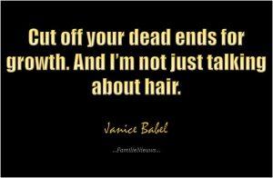 Quote van Janice Babel. Laat je niet afremmen door mensen die niet met je willen meegroeien.